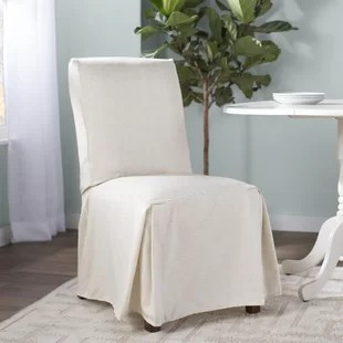 kitchen chair covers rustic tables and chairs for restaurants ruffled wayfair quickview