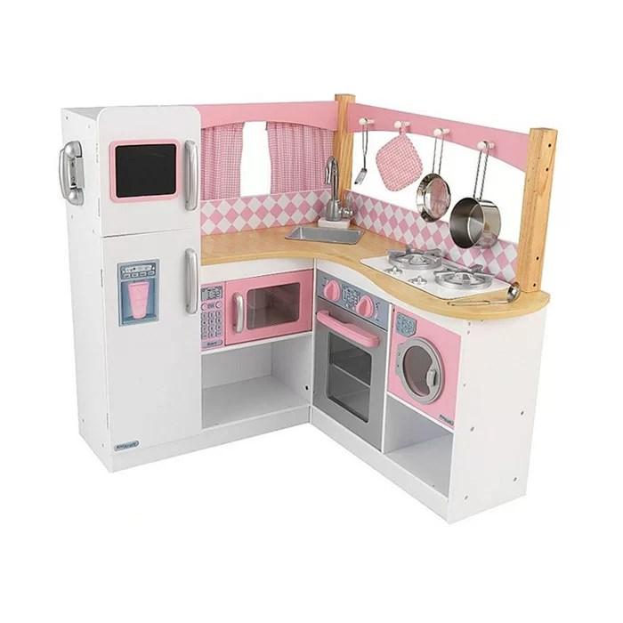 kid craft kitchen cheap cabinets kidkraft grand gourmet corner set reviews wayfair
