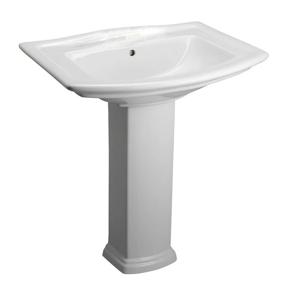 Barclay Washington 550 34 Pedestal Bathroom Sink with Overflow  Reviews  Wayfair