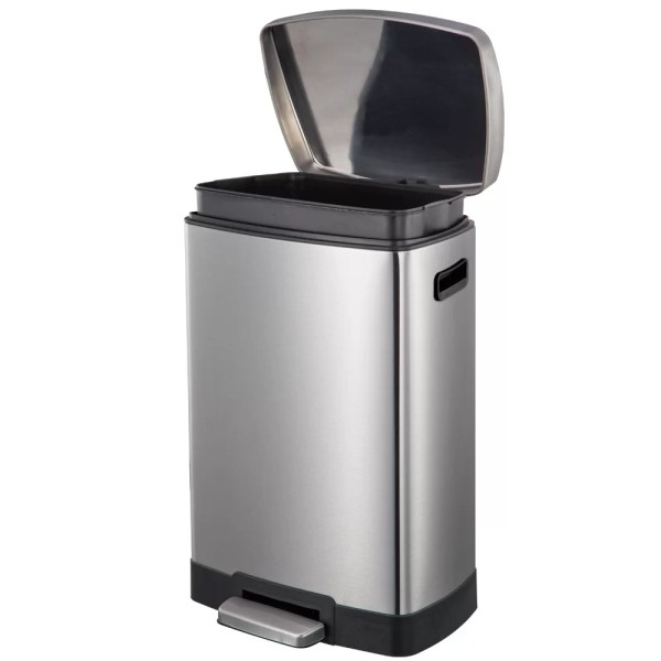 Rebrilliant Stainless Steel 13.2 Gallon Step Trash