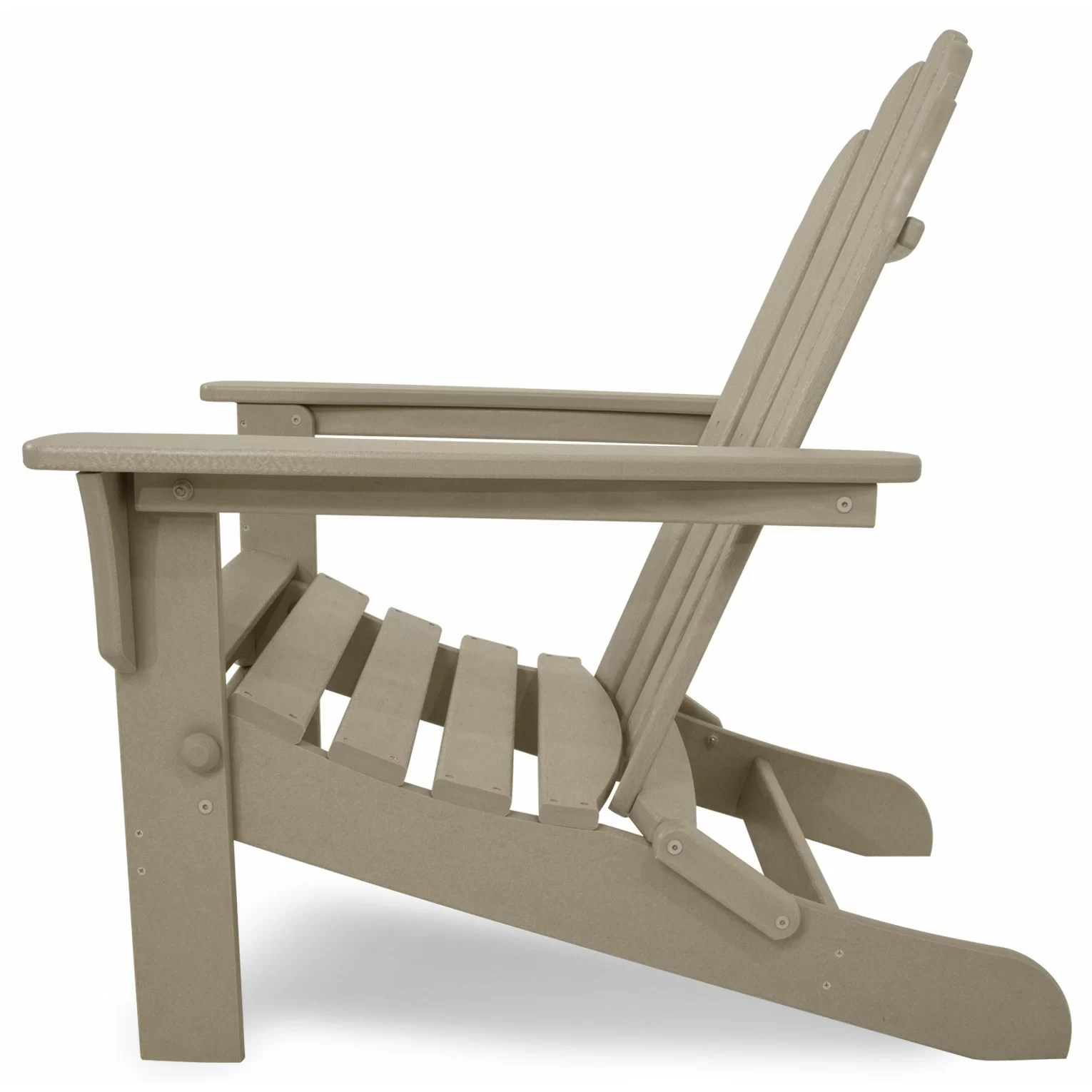 Living Accents Folding Adirondack Chair Trex Trex Outdoor Cape Cod Adirondack Chair And Footstool