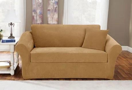 sure fit stretch pique 3 piece t cushion sofa slipcover microfiber cleaner s wayfair