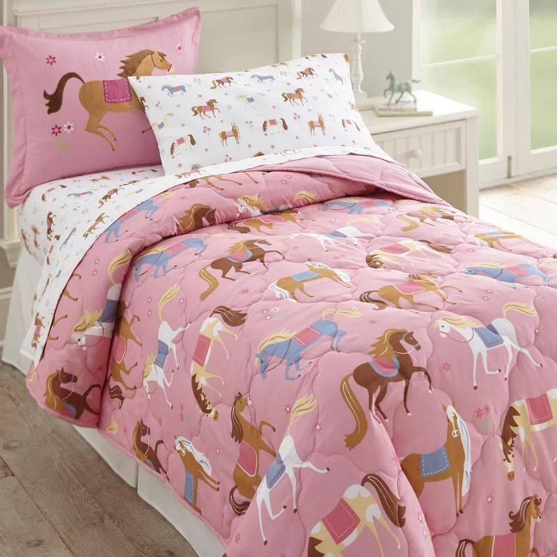 Olive Kids Horses 4 Piece Toddler Bedding Set