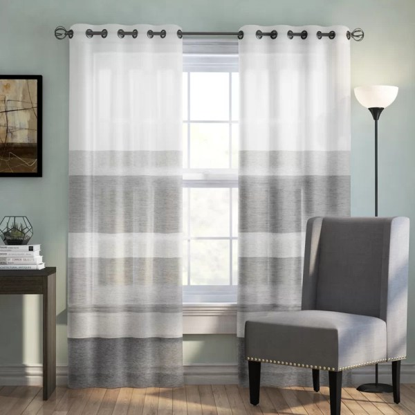 Grommet Sheer Curtain Single