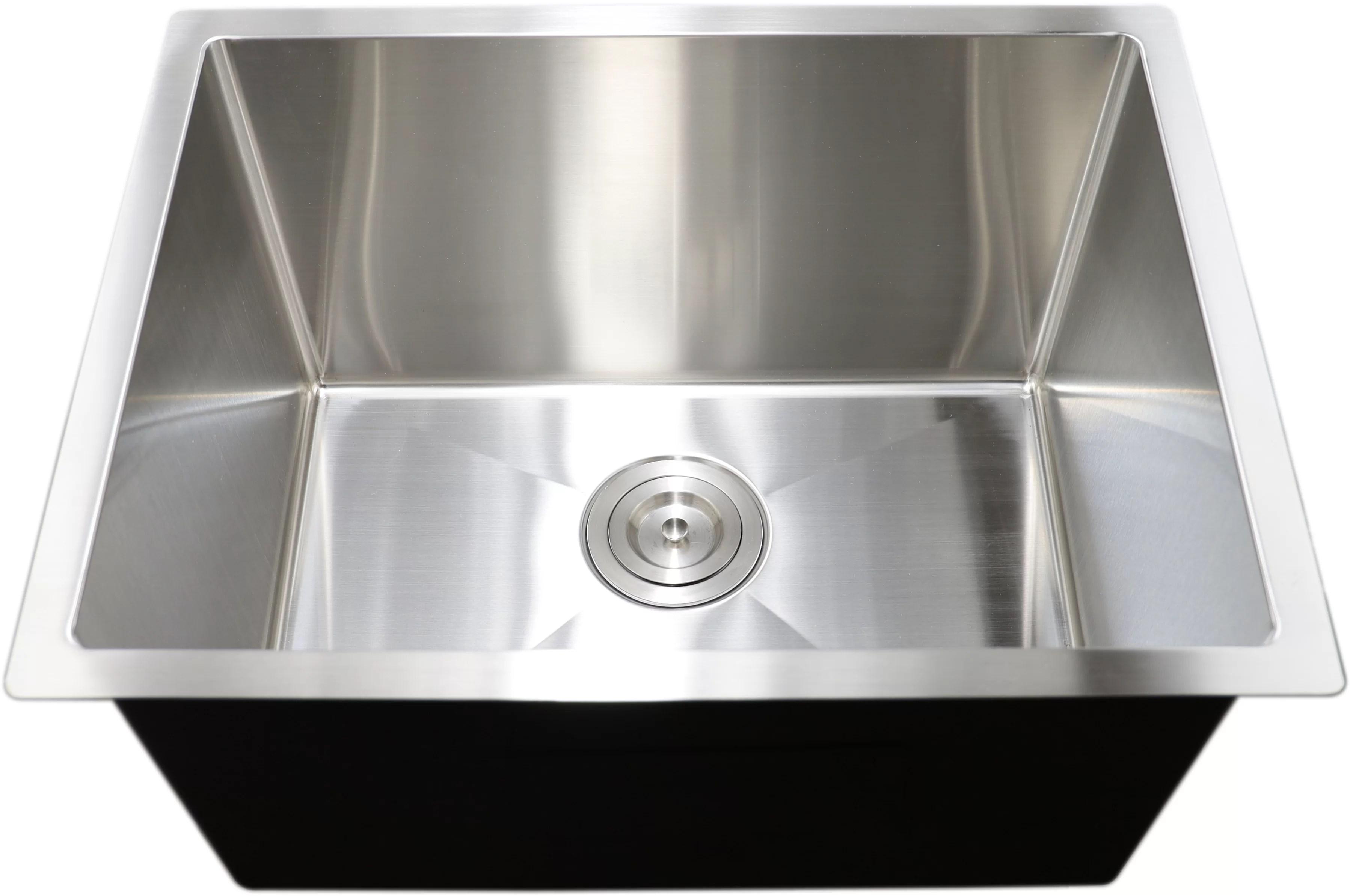 premium stainless steel 23 x 18 undermount laundry sink