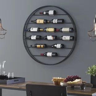 wine rack in living room clean colors enthusiast racks you ll love wayfair label view 12 bottle wall mounted