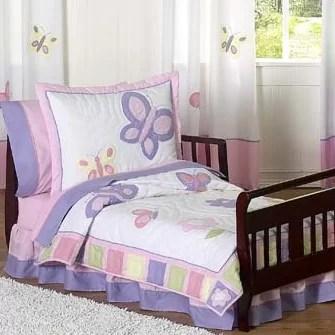 Butterfly 5 Piece Toddler Bedding Set