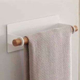 kitchen towel bars ceramic tile design magnetic bar wayfair jamari dish wall mounted