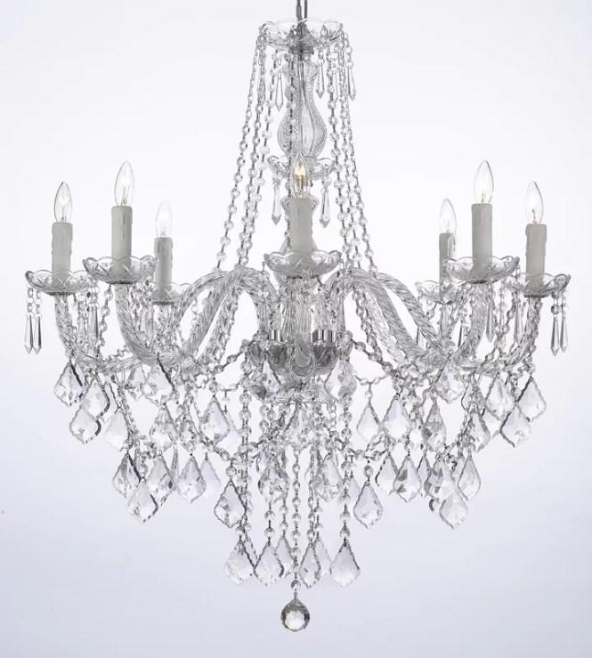 Anton 8 Light Crystal Chandelier