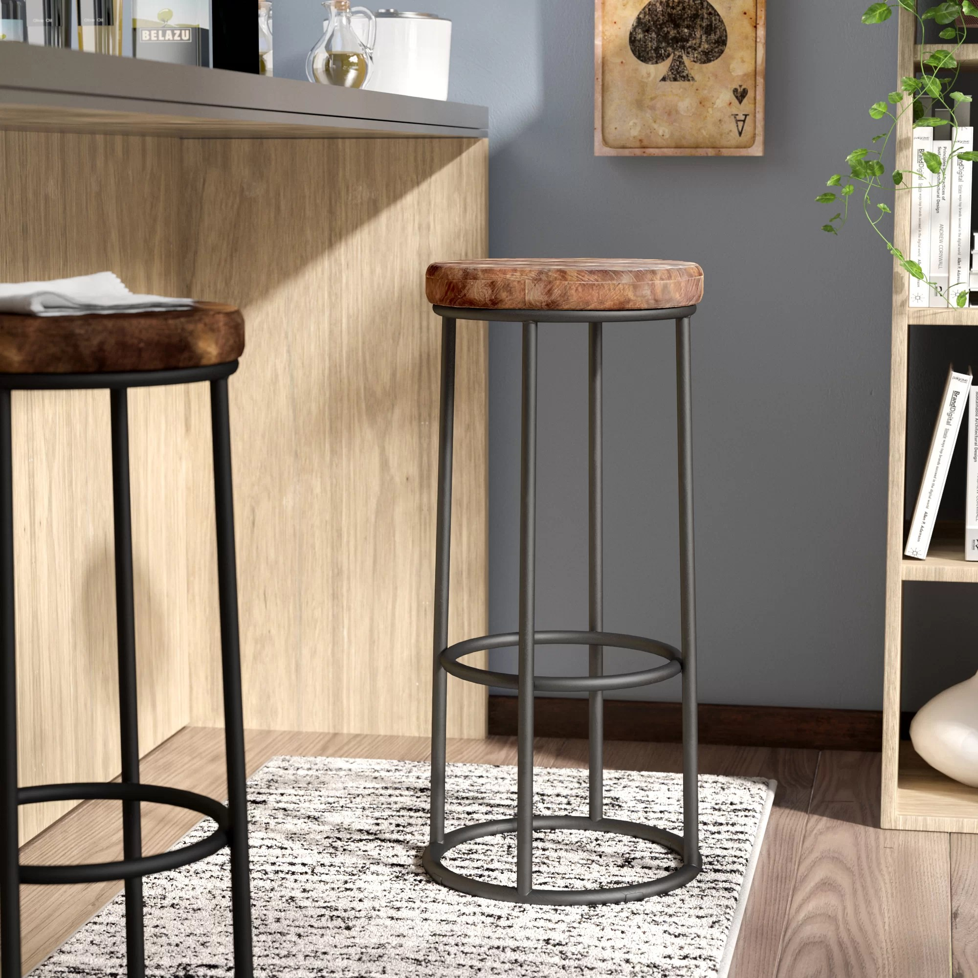 countertop stools kitchen small space tables for trent austin design kendall bar counter stool reviews wayfair