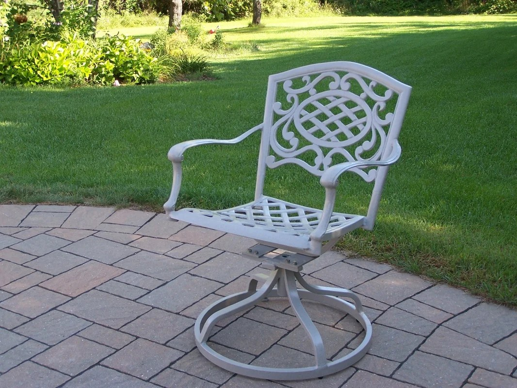 Oakland Living Mississippi Swivel Patio Dining Chair