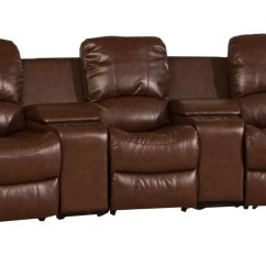 3 Seat Leather Recliner Sofa Covers Recover Bed Reclining Panther Seater Brown