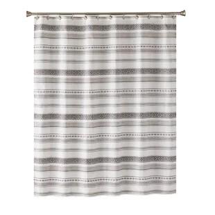 black striped shower curtains shower