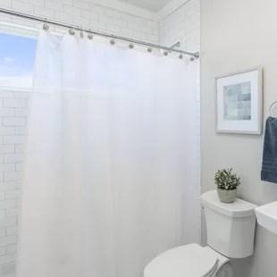 peva single shower curtain liner