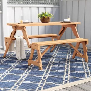 folding chair picnic table cream leather office bench wayfair andres and