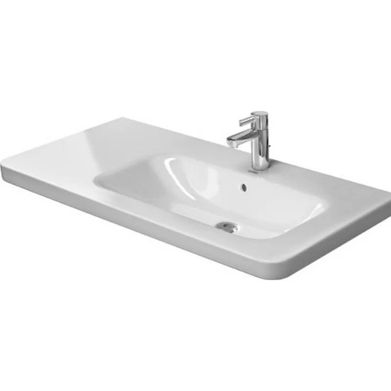 DuraStyle Ceramic 40 Wall Mount Bathroom Sink with Overflow