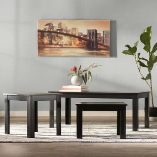 carl 3 piece coffee table set low price.