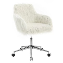 Fuzzy White Chair Swivel Bar Chairs With Backs Fur Desk Wayfair Search Results For