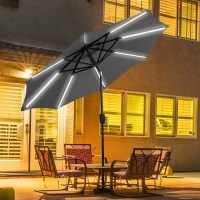 Freeport Park Sinclair 9' Patio LED Light Market Umbrella