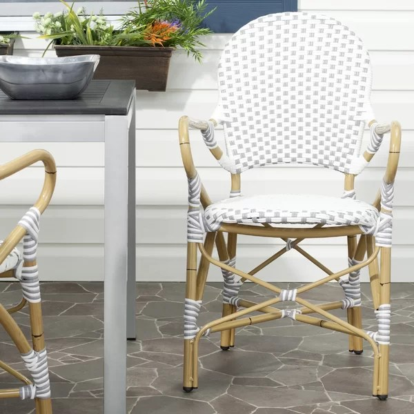 Strange Rahul Stacking Patio Dining Chair Set Of 2 By Bay Isle Interior Design Ideas Gentotryabchikinfo