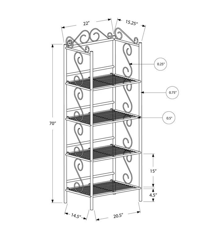 Monarch Specialties Inc. Edwin Standard Bookcase & Reviews