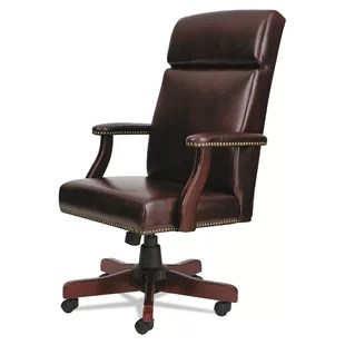 harith high back leather executive chair baseball bean bag office chairs you ll love wayfair traditional series