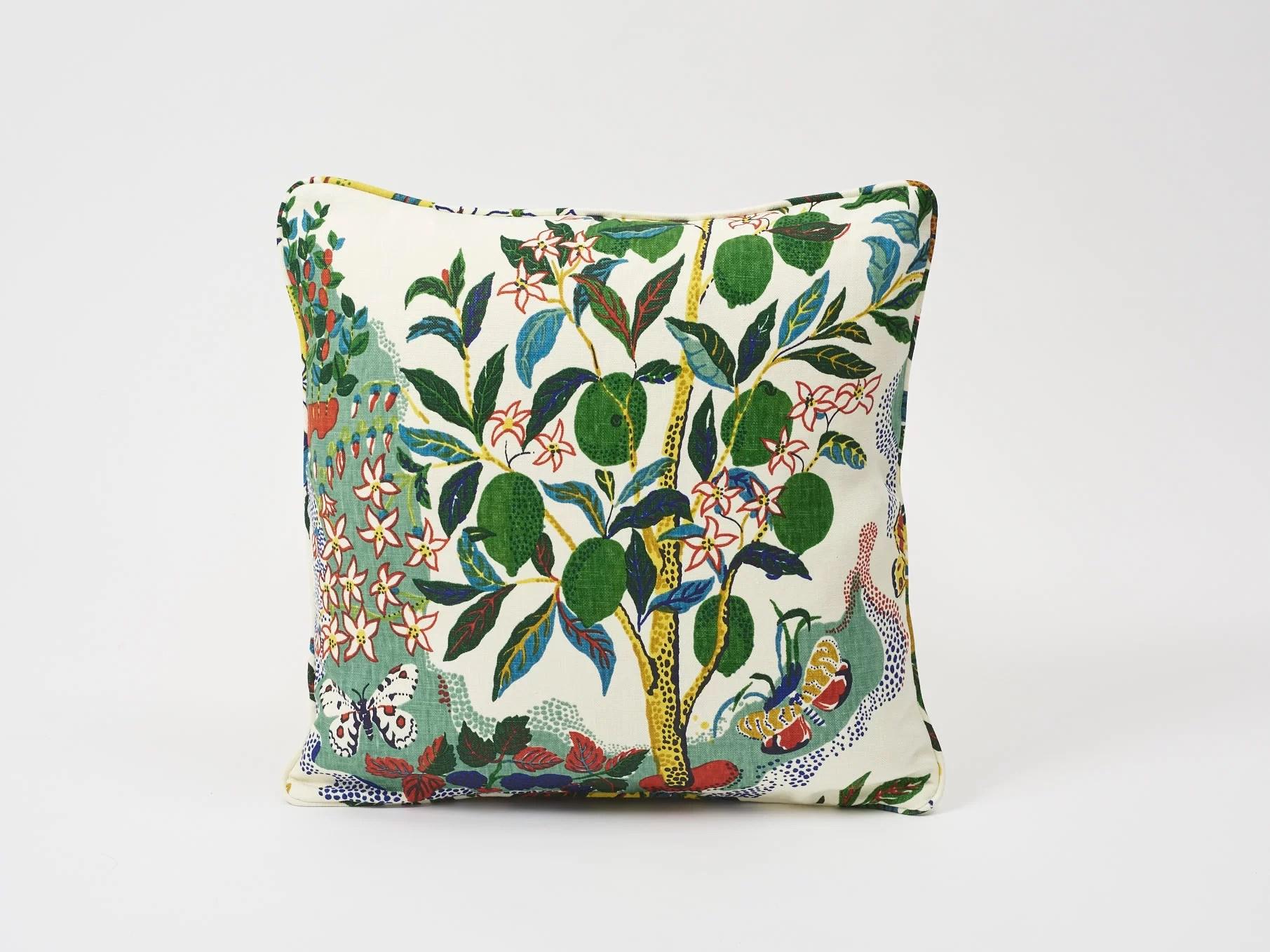 citrus garden square linen pillow cover insert