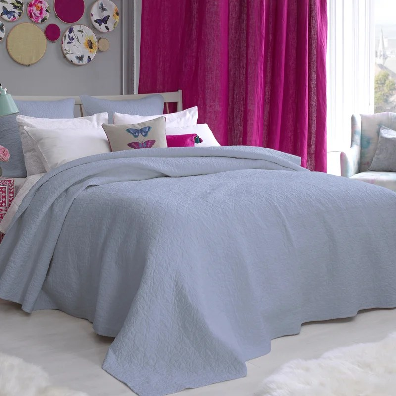 bluebellgray blue coverlet