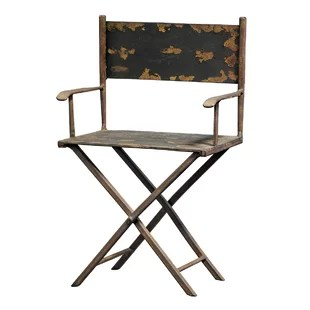 tall director chair and a half with ottoman metal directors wayfair scaled s sculpture