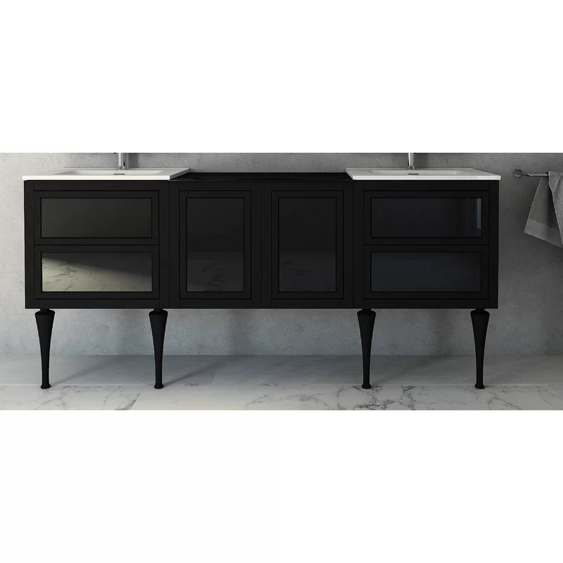Canora Grey Gomes 78 Double Bathroom Vanity Wayfair Co Uk