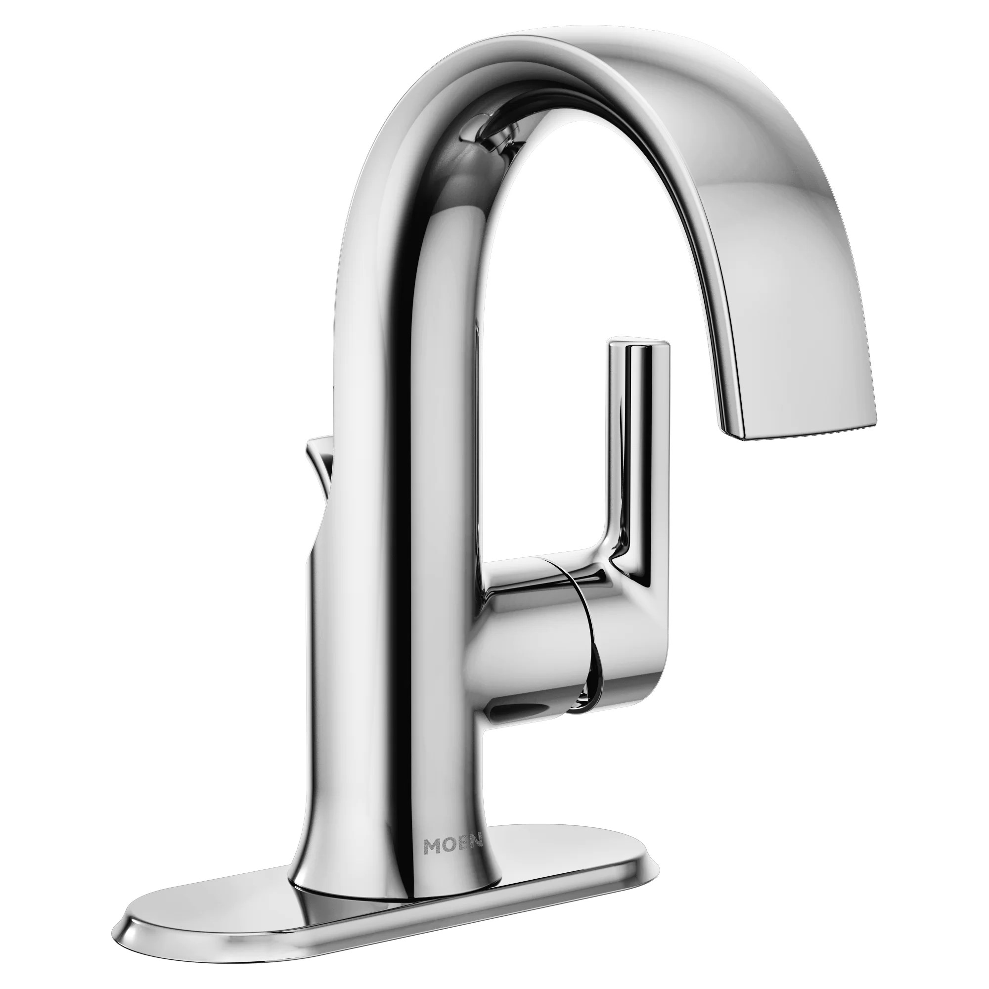 doux single hole bathroom faucet with drain assembly