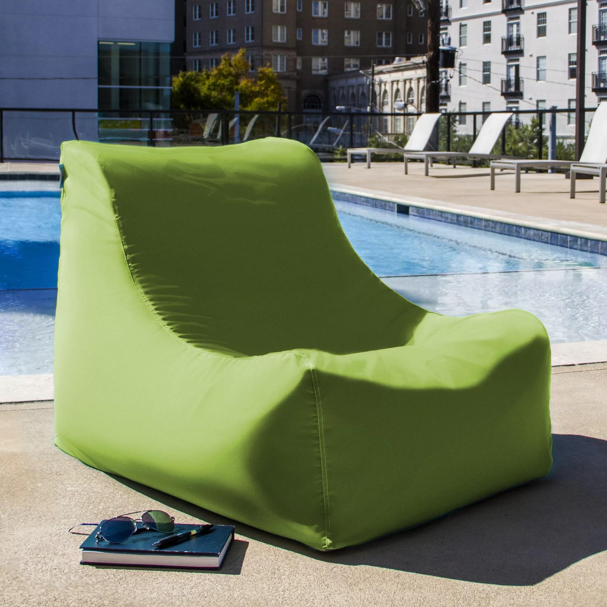 custom bean bag chairs canada chair covers in kampala jaxx ponce outdoor patio lounge and reviews wayfair
