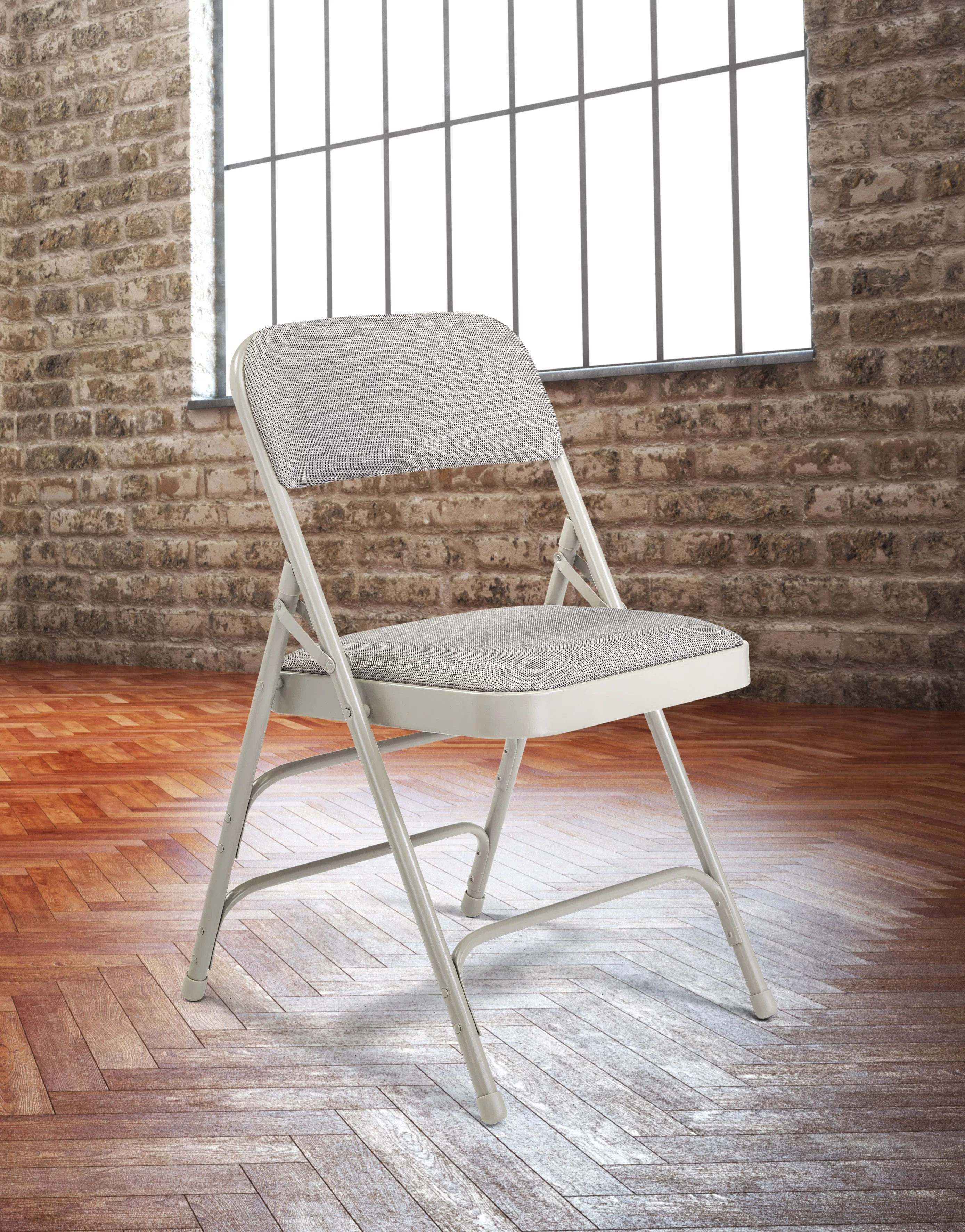 cloth padded folding chairs ikea chair cushions national public seating 2300 series fabric reviews wayfair