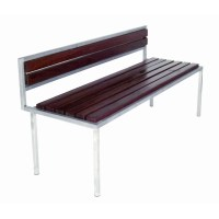 Modern Outdoor Talt Stainless Steel Garden Bench | Perigold