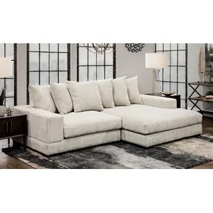 luxe 107 wide right hand facing sofa chaise