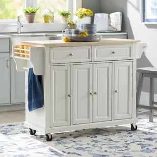 kitchen workbench pantry cabinets wayfair quickview