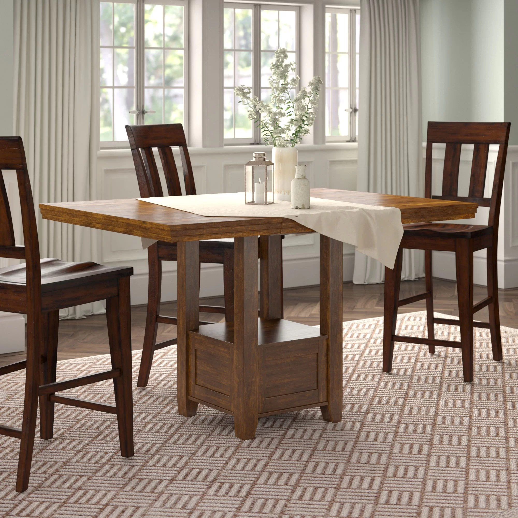 Andover Mills Rebecca Counter Height Extendable Dining Table Reviews Wayfair
