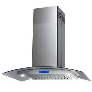 kitchen hood countertops laminate range cover wayfair 30 343 cfm convertible island