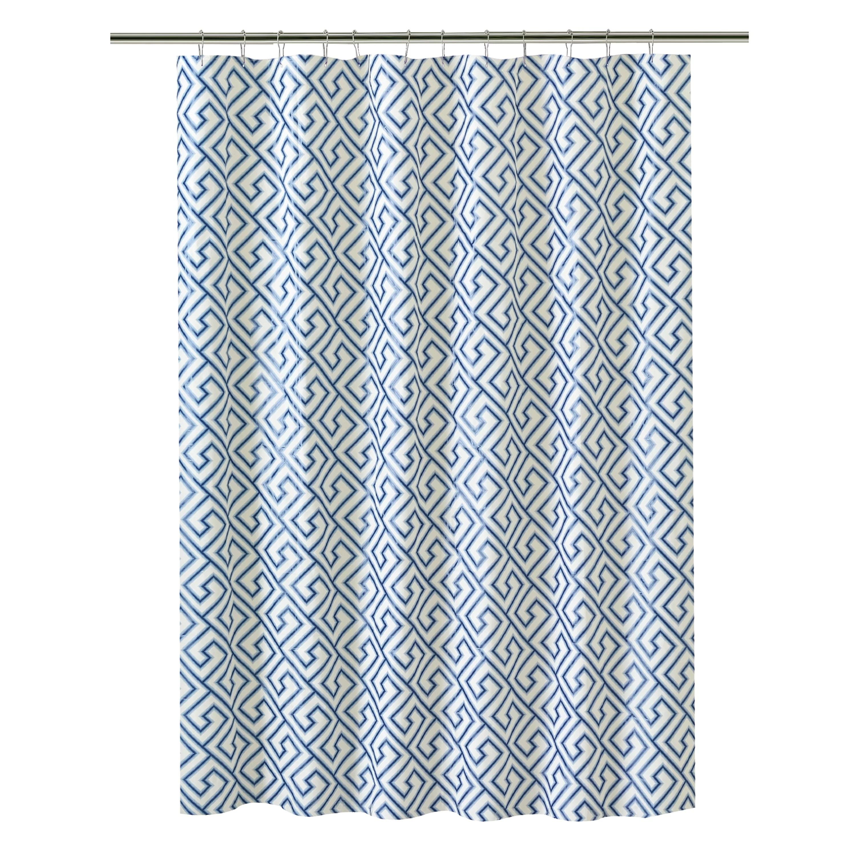 herma peva greek key design single shower curtain