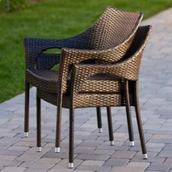 Wicker Patio Chair Set Of 2 Gold Sashes For Chairs Outdoor Sets Wayfair Danna