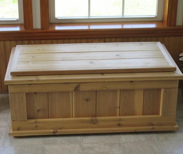 Guillaume Premium Quality Indoor Outdoor Cedar Storage Bench