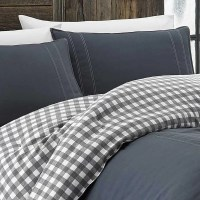 Kingston 100% Cotton 2 Piece Reversible Comforter Set