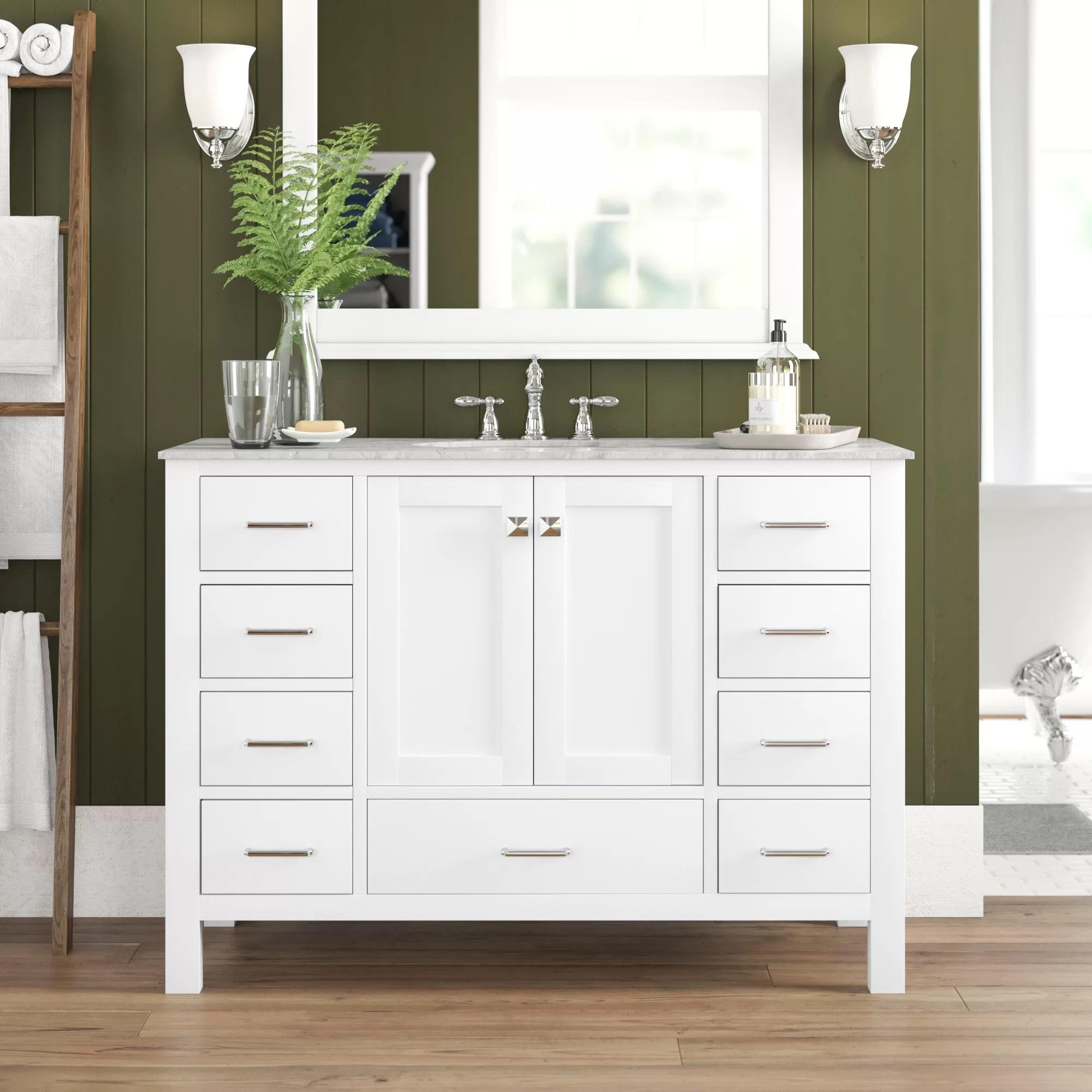Maynerd Full Cabinet 48 Single Bathroom Vanity Set Reviews Birch Lane