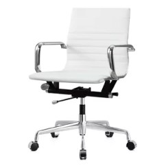 Ivory Leather Office Chair White Spandex Covers For Folding Chairs Desk Wayfair Quickview