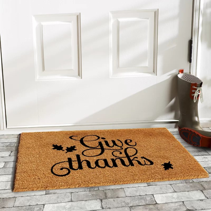 Lofton Give Thanks Doormat