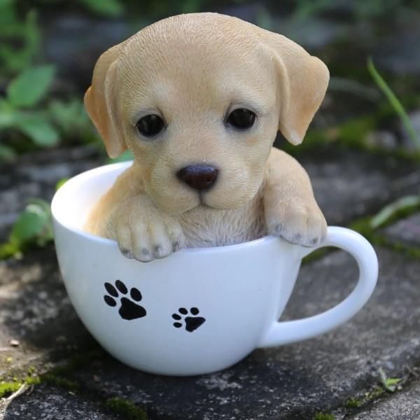Line . Teacup Labrador Puppy Statue &