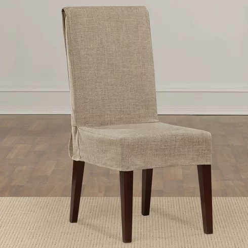 parson chair slipcover leather wingback next sure fit shorty dining & reviews | wayfair