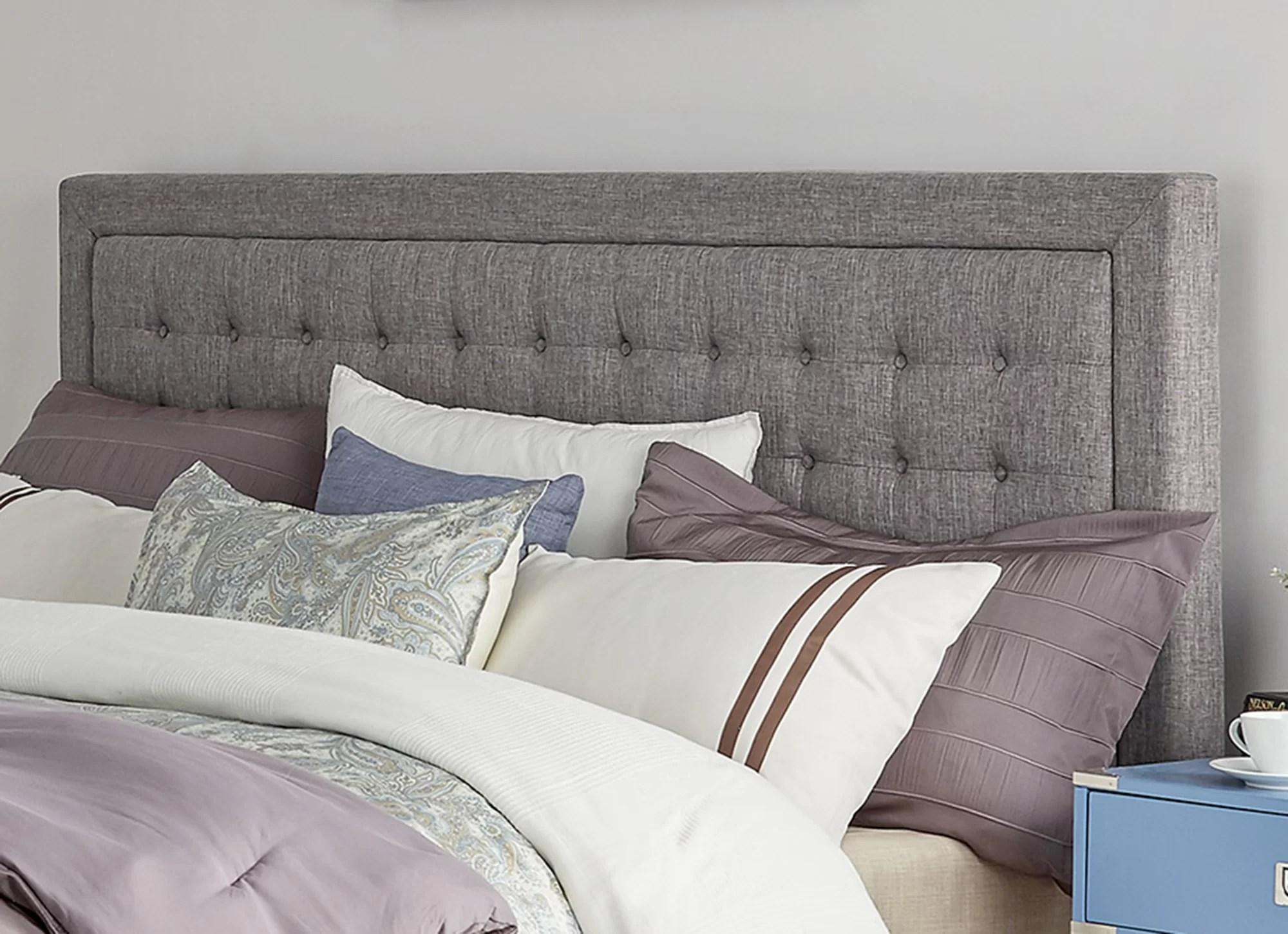 Three Posts Woodside Upholstered Panel Headboard & Reviews