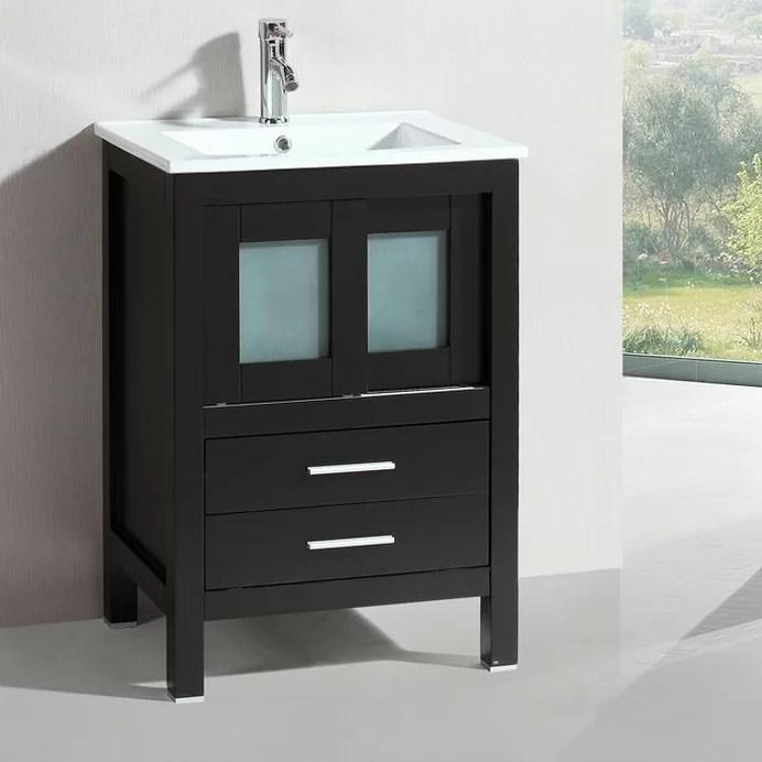 Belvederebath Modern Freestanding 24 Single Bathroom Vanity Set Wayfair