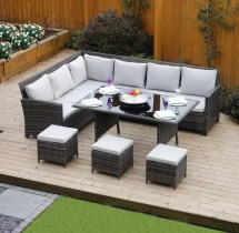 Hokku Design 9 Seater Rattan Sofa Set With Cushions